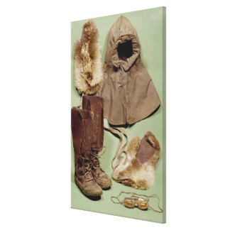 La ropa de Scott usada en el antártico Lienzo Envuelto Para Galerías