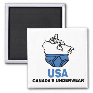 La ropa interior de Canadá Imán Cuadrado