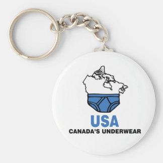 La ropa interior de Canadá Llavero Redondo Tipo Pin