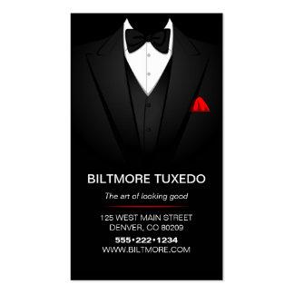 La ropa para hombre del smoking moderna limpia tarjetas de visita