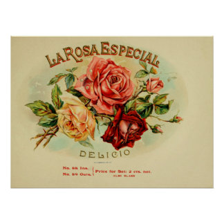 LA.Rosa.E.Special Cigar Box Labels Poster