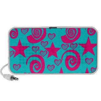 La rosa fuerte azul del trullo femenino protagoniz iPod altavoz