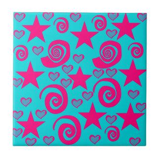 La rosa fuerte azul del trullo femenino protagoniz teja cerámica
