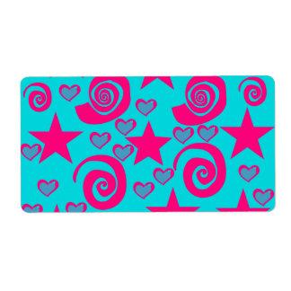 La rosa fuerte azul del trullo femenino protagoniz etiquetas de envío
