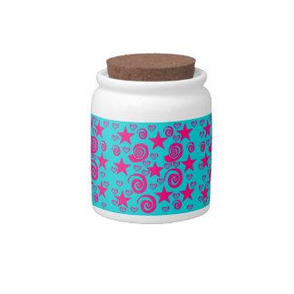 La rosa fuerte azul del trullo femenino protagoniz platos para caramelos