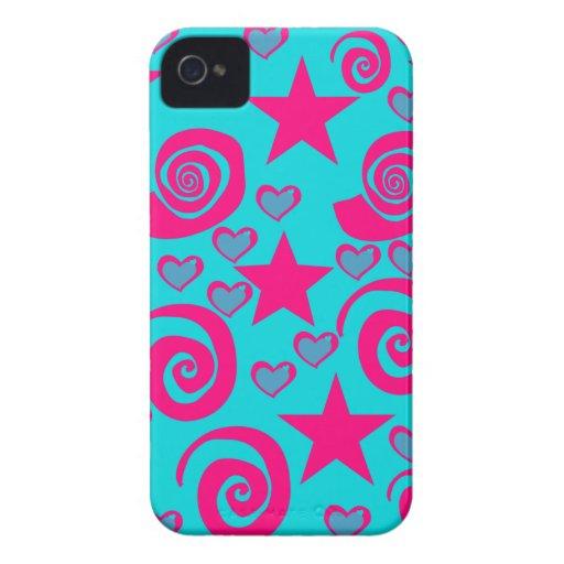 La rosa fuerte azul del trullo femenino protagoniz Case-Mate iPhone 4 carcasa