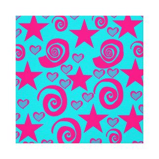 La rosa fuerte azul del trullo femenino protagoniz impresiones en lona estiradas