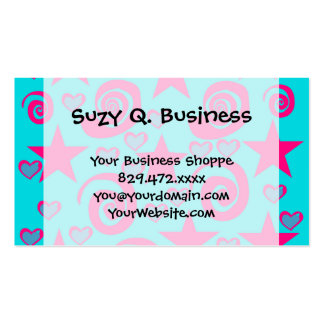 La rosa fuerte azul del trullo femenino protagoniz plantillas de tarjeta de negocio