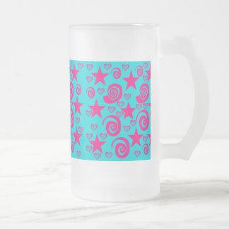 La rosa fuerte azul del trullo femenino protagoniz taza de café