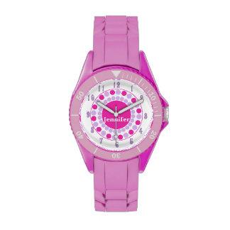 La rosa fuerte elegante puntea el reloj de encargo