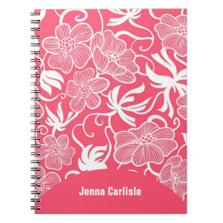 La rosa fuerte femenina florece el cuaderno person