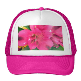 La rosa fuerte florece Alstroemeria púrpura Gorros Bordados