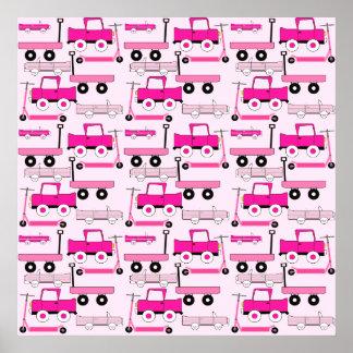 La rosa fuerte rueda el carro de las vespas de los póster