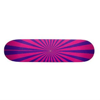 La rosa fuerte Starburst púrpura Sun irradia la op Monopatin Personalizado