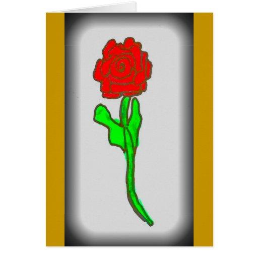 La Rosa Tarjeta De Felicitación
