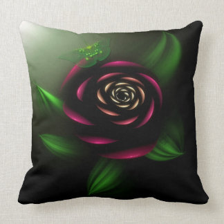 La Rosa with Butterfly Throw Pillow