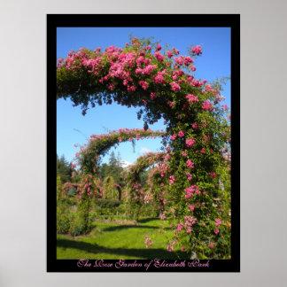 La rosaleda del poster del parque de Elizabeth