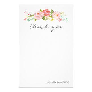 La rosaleda floral le agradece personalizó papelería