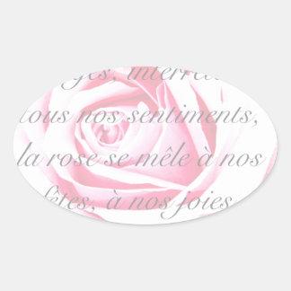 La Rose Oval Sticker