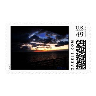 La rotura del franqueo de la mañana sellos postales