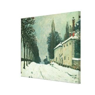 La Route de Louveciennes, Hiver, 1874 (aceite en c Impresiones De Lienzo