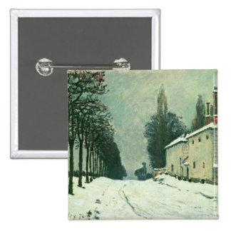 La Route de Louveciennes, Hiver, 1874 (aceite en c Pin Cuadrado