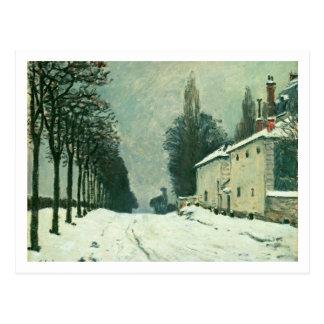 La Route de Louveciennes, Hiver, 1874 (aceite en c Tarjetas Postales