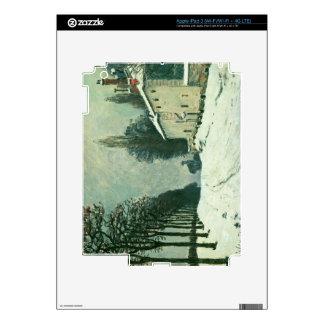 La Route de Louveciennes, Hiver, 1874 (oil on canv Decals For iPad 3