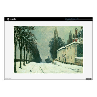 La Route de Louveciennes, Hiver, 1874 (oil on canv Decals For Laptops