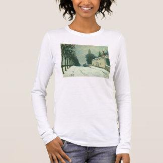 La Route de Louveciennes, Hiver, 1874 (oil on canv Long Sleeve T-Shirt
