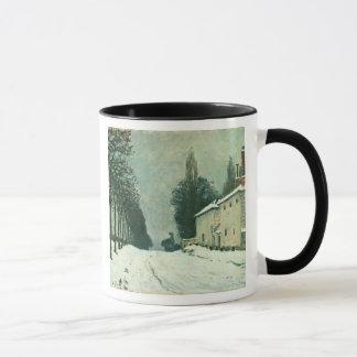 La Route de Louveciennes, Hiver, 1874 (oil on canv Mug