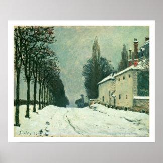 La Route de Louveciennes, Hiver, 1874 (oil on canv Poster