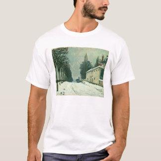 La Route de Louveciennes, Hiver, 1874 (oil on canv T-Shirt