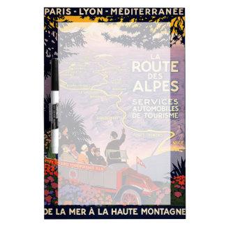 La route des Alpes Dry Erase Board
