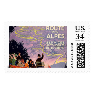La route des Alpes Postage
