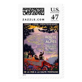 La route des Alpes Postage Stamp