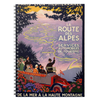 La route des Alpes Spiral Notebook