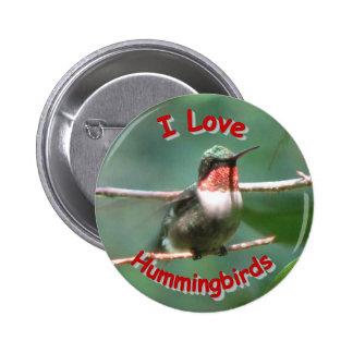 La Rubí-garganta agita botón del amor Pin Redondo De 2 Pulgadas