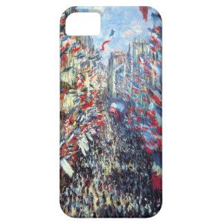 La ruda Montorgueil, París de Claude Monet iPhone 5 Carcasa