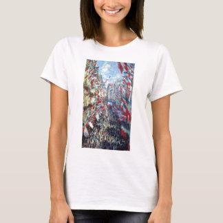 La ruda Montorgueil, París de Claude Monet Playera