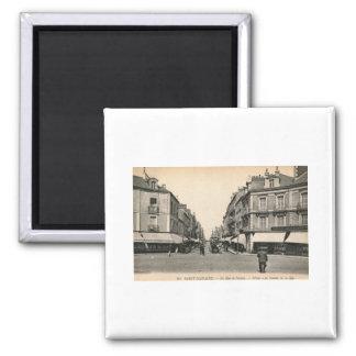 La Rue de Nantes, Saint Nazaire, France Vintage 2 Inch Square Magnet