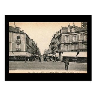 La Rue de Nantes, Saint Nazaire, France Vintage Postcard
