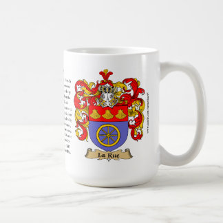 La Rue, the Origin, the Meaning and the Crest Coffee Mug