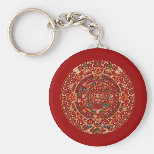 La rueda (azteca) maya/del calendario llaveros