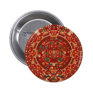 La rueda (azteca) maya/del calendario pins