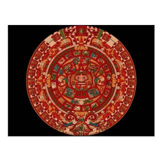 La rueda (azteca) maya del calendario postal