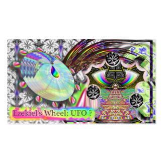 La rueda de Ezekiel del fuego: ¿UFO? tarjeta de vi Tarjetas Personales