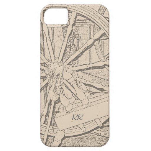 La rueda de hilado antigua hace la caja del iPhone iPhone 5 Cobertura
