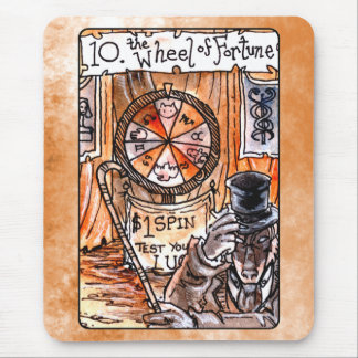 La rueda de la carta de tarot de la fortuna alfombrillas de ratón