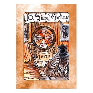 La rueda de la carta de tarot de la fortuna tarjetas de visita grandes